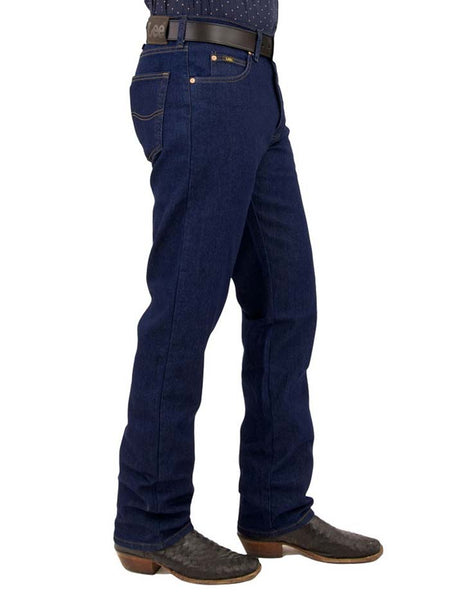 Lee Mens Regular Fit Straight Leg Stretch Jeans 2002046 Indigo - D