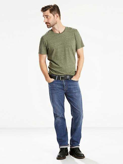 0adf2284df97 Levis 505 Mens Made in USA Stonewash Regular Fit Jeans 005051525 - D ...
