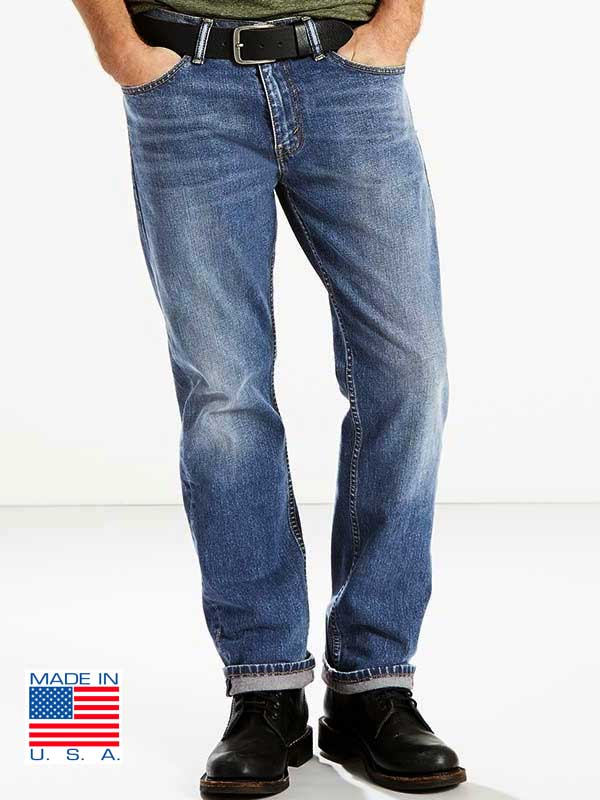 47f56d7b Levis 505 Mens Made in USA Stonewash Regular Fit Jeans 005051525 - D ...