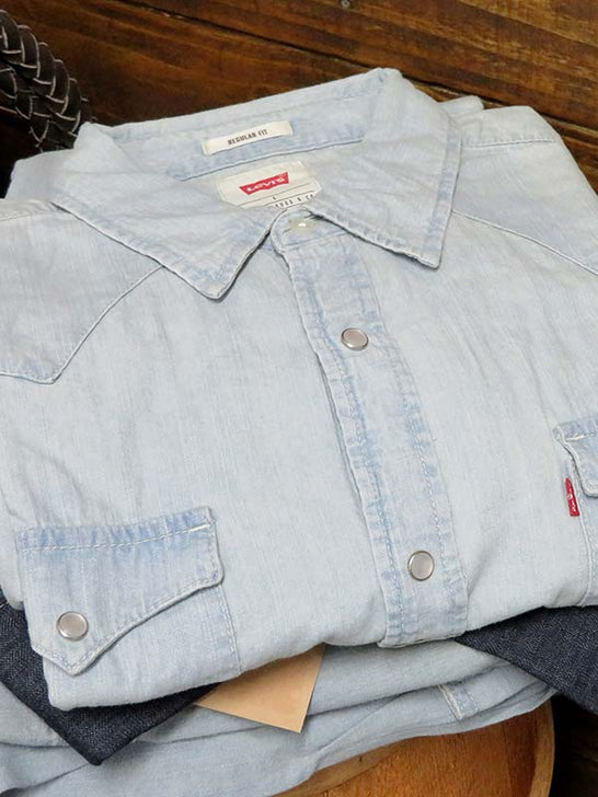 Levi's Barstow Western Denim Snap Shirts 3LMLW0313CC New Age Bleach