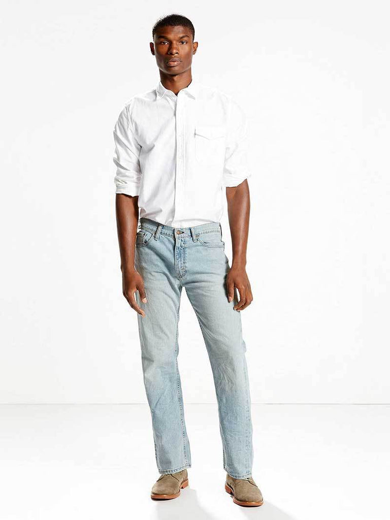 Levi's 005051373 Mens 505 Jeans Regular Fit Stretch Jeans Stone Wash