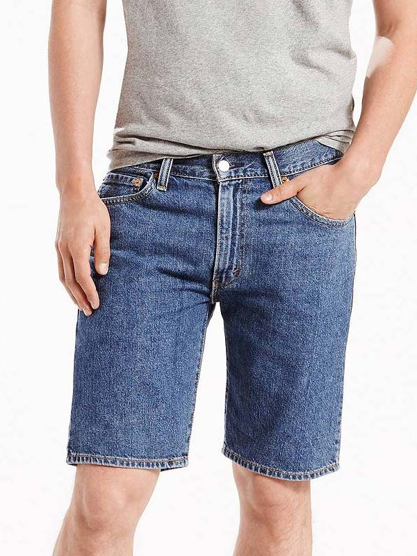 Levi's 505 Regular Fit Short Medium Stonewash 345052111