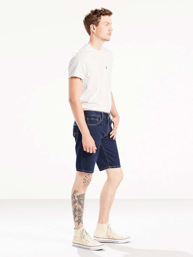 Levi's 511 Slim Fit Dark Indigo Hemmed Shorts 365150047
