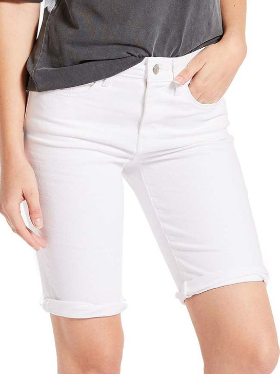 Levi's Womens Rolled Cuffs Denim Bermuda Shorts 299690004 White (D) Levis - J.C. Western® Wear