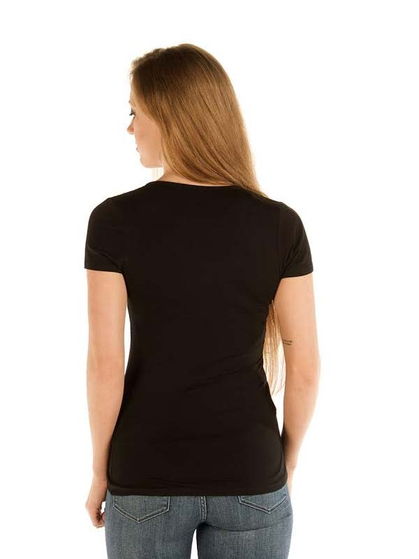 Liberty Wear Womens Studded Steer Skull 7157-BLK Black Front