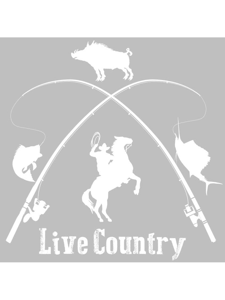 "Live Country Bumper Decal Sticker - 8"" X 8"""