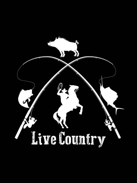 "Live Country Bumper Decal Sticker - 8"" X 8"" J.C. Western® Wear - J.C. Western® Wear"