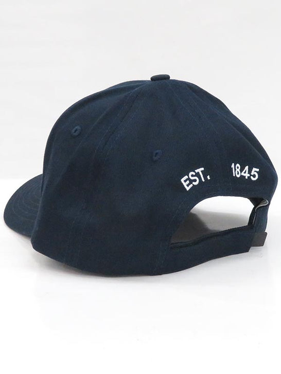 Local Embroidered Navy Semi-Curve Bill Hat back view