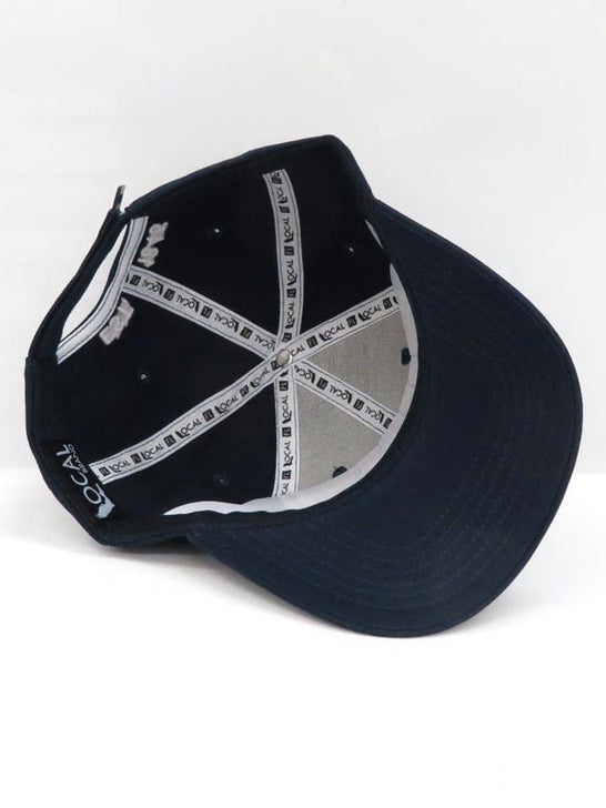 Local Embroidered Navy Semi-Curve Bill Hat inside
