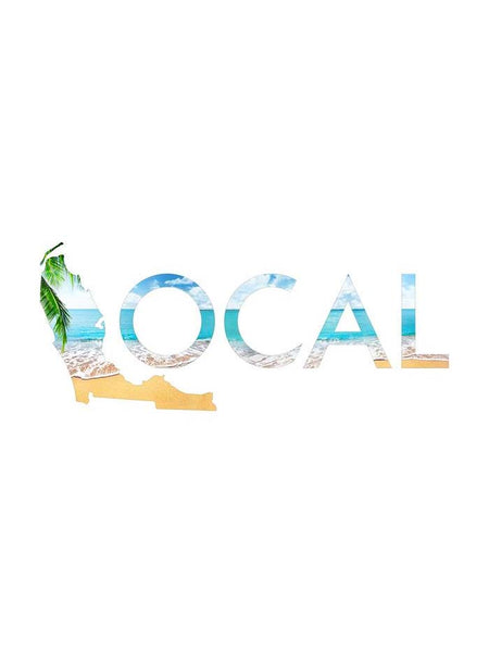 Local Beach10 Inches Decal Sticker