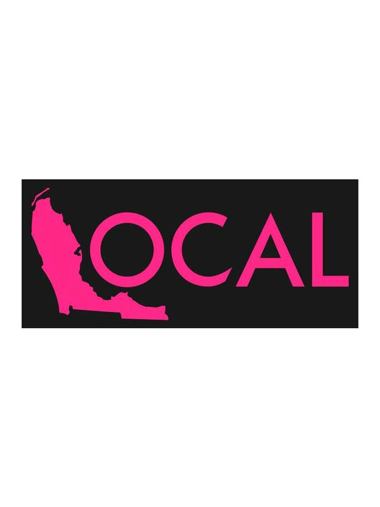 Local Hot Pink Decal Sticker 10x4 15x6