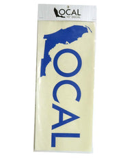 Local Solid Color Decal Stickers 10x4 15x6 Blue