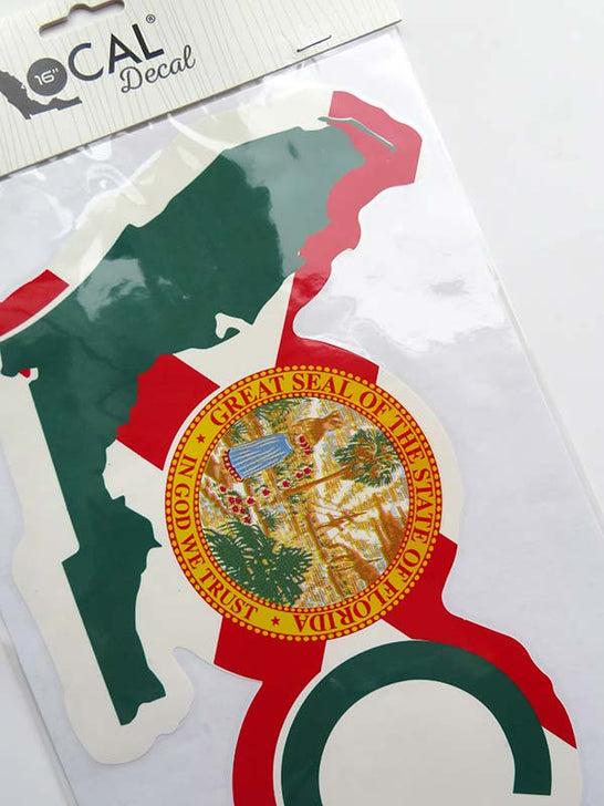 Local Florida State Flag Decal Sticker 16x7