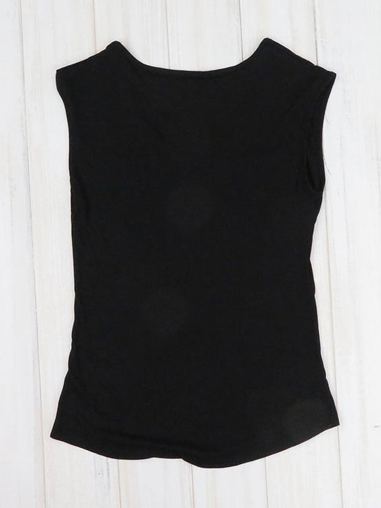Local Womens Piña Sleeveless Black Tank Top back view