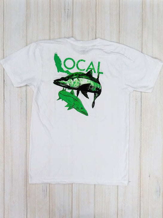 Local Mens Poppin' Short Sleeve White T-Shirt POPPIN-TOPS