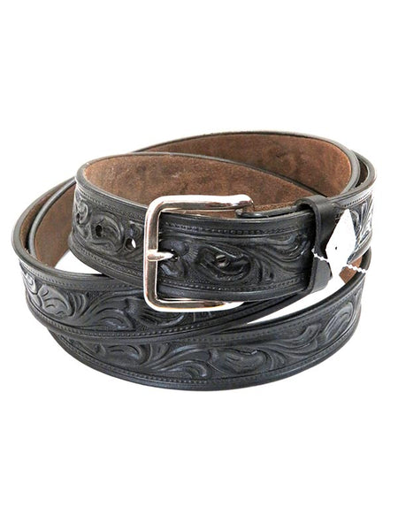 Looper Mens Embossed Workwear Large Size Western Belt 150BLK Black