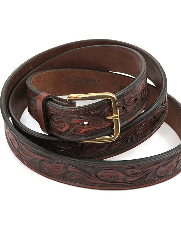 Looper Mens Embossed Workwear Large Size Western Belt 150RB