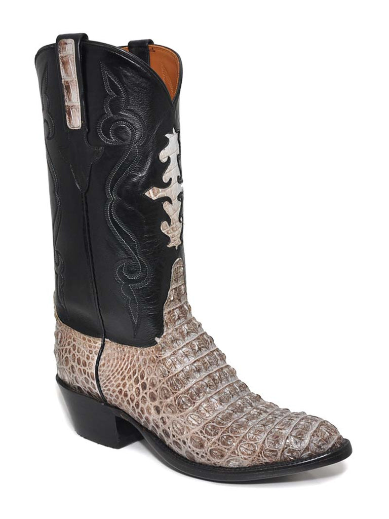 cce16f2c46b Lucchese Classics Mens Natural Hornback Caiman Crocodile Cowboy Boots  G9861.24