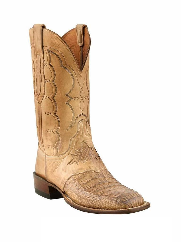 Men's Lucchese Cowboy Collection Hornback Caiman Boots CL1063