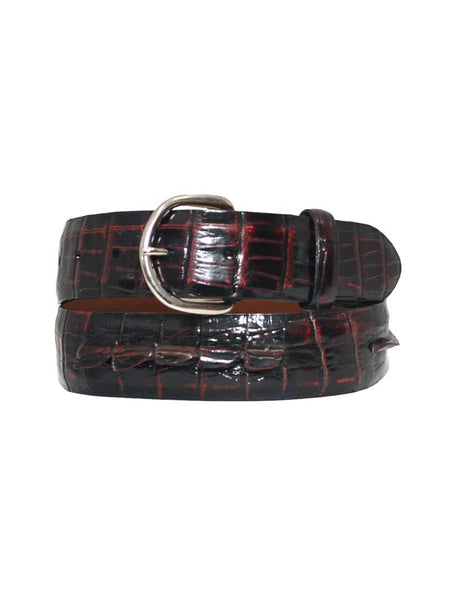 Lucchese Alligator Black USA Made Hornback Caiman Leather Belt B1456 Lucchese - J.C. Western® Wear
