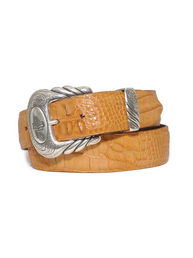 Lucchese Alligator Classics USA Made Hornback Caiman Leather Belt B1603 Lucchese - J.C. Western® Wear