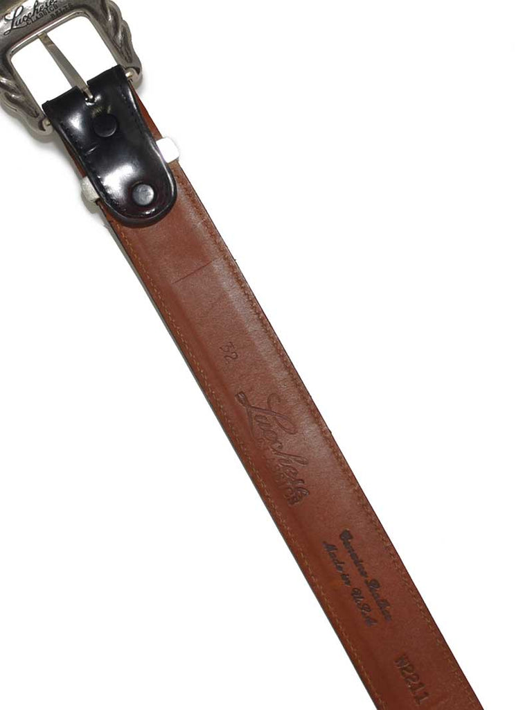 Lucchese Classics USA Made Ranch Hand Brown Western Belt W2211 Lucchese - J.C. Western® Wear