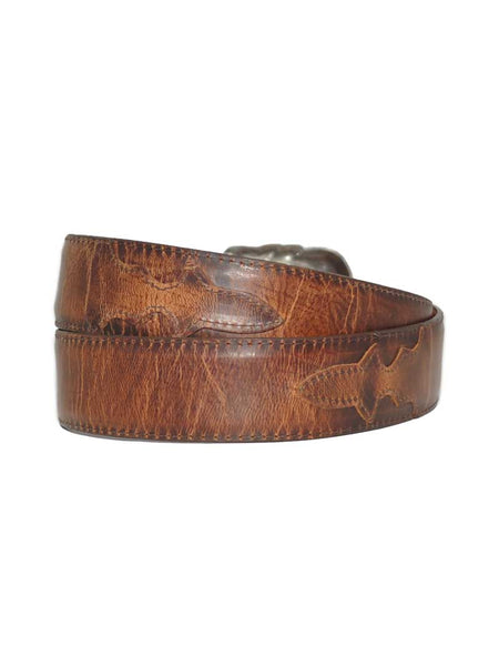 Lucchese Classics USA Made Distressed Leather Western Belt W2241 Lucchese - J.C. Western® Wear