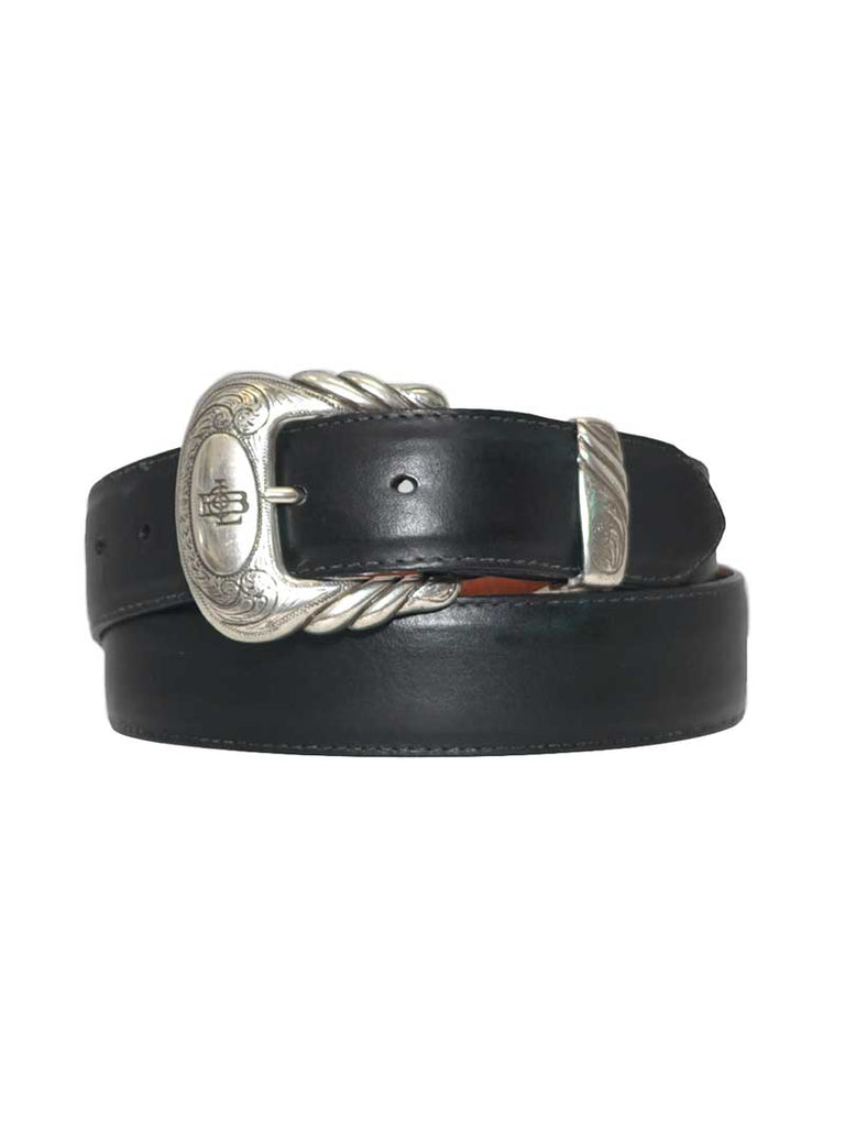 Lucchese Classics USA Made Matte Black Leather Western Belt W4201 Lucchese - J.C. Western® Wear