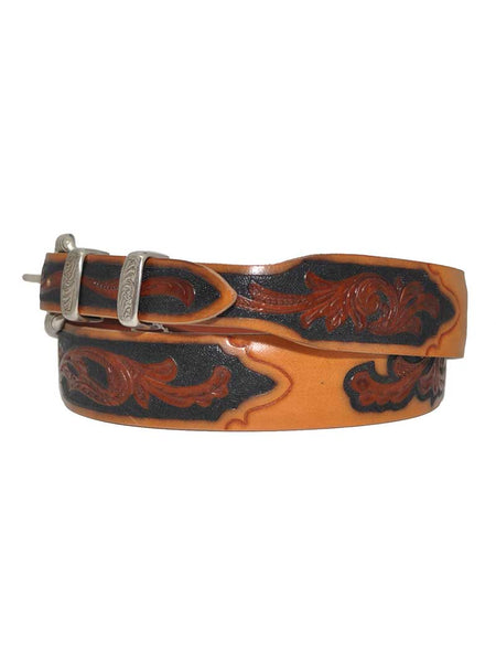 Lucchese Classics USA Made Floral Tooled Western Belt W5652 Lucchese - J.C. Western® Wear