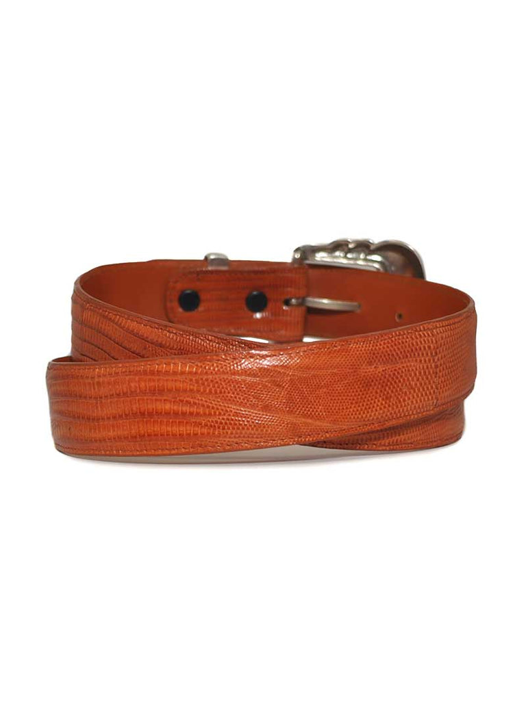 Lucchese Genuine Lizard Handcrafted in USA Western Belt W8051 Tan Lucchese - J.C. Western® Wear