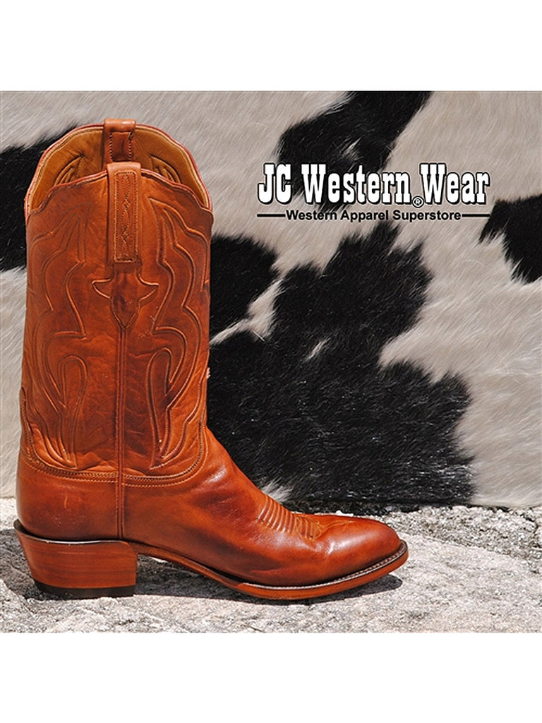 Mens Lucchese Cognac Classics Ranch Hand Leather Boots GA9303.24