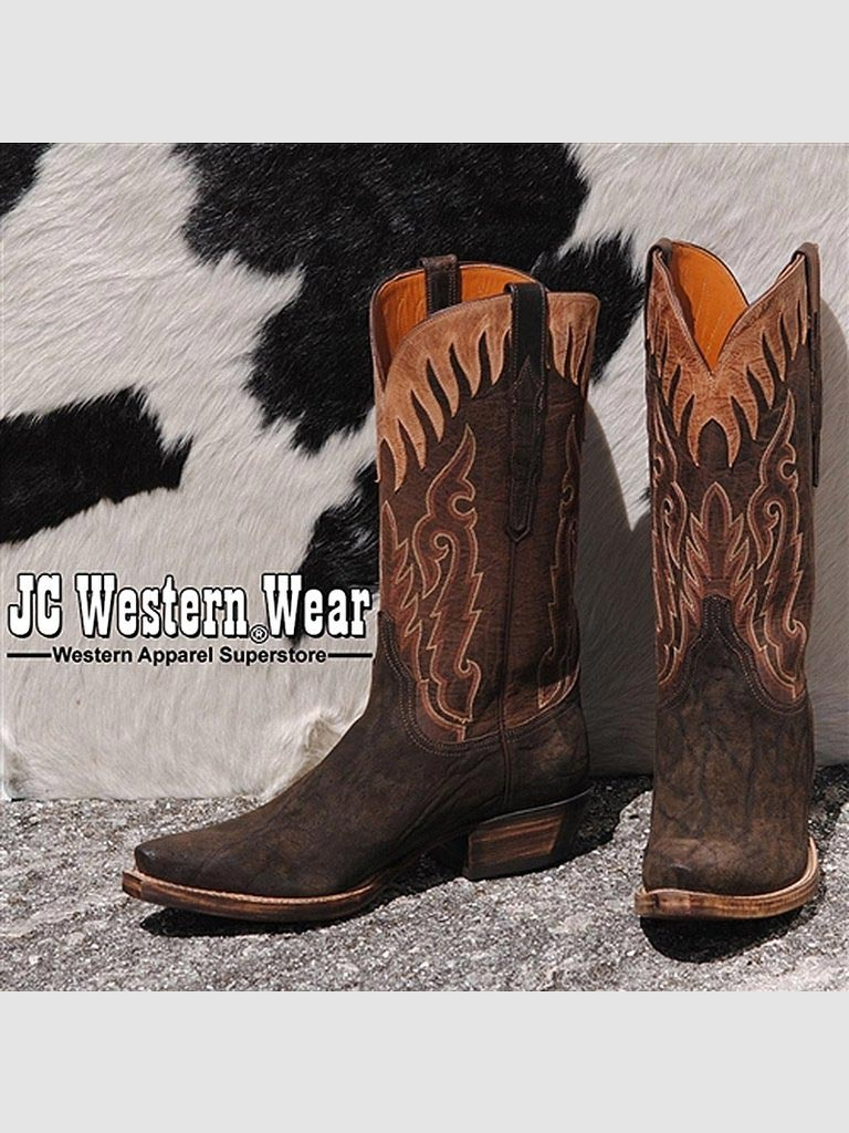 fbafac80e10 Men's Lucchese Classics Suede Elephant Skin Boots - GC9616