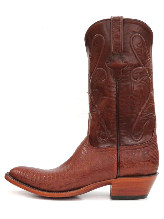Lucchese L1218.24 Mens Classic Peanut Brittle Lizard Cowboy Boot Tan Side