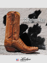Mens Lucchese Classics Hornback Caiman Skin Boots L1331.54