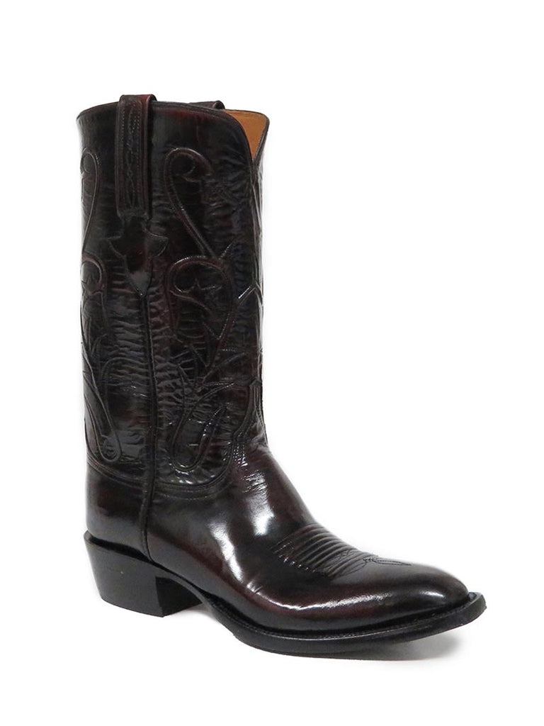 Mens Lucchese Classic Black Cherry Goat Skin Boots L1514.13
