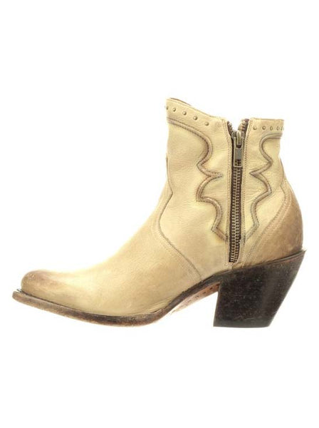 Lucchese Womens Karla Bone Distressed Studded Bootie M6011 side