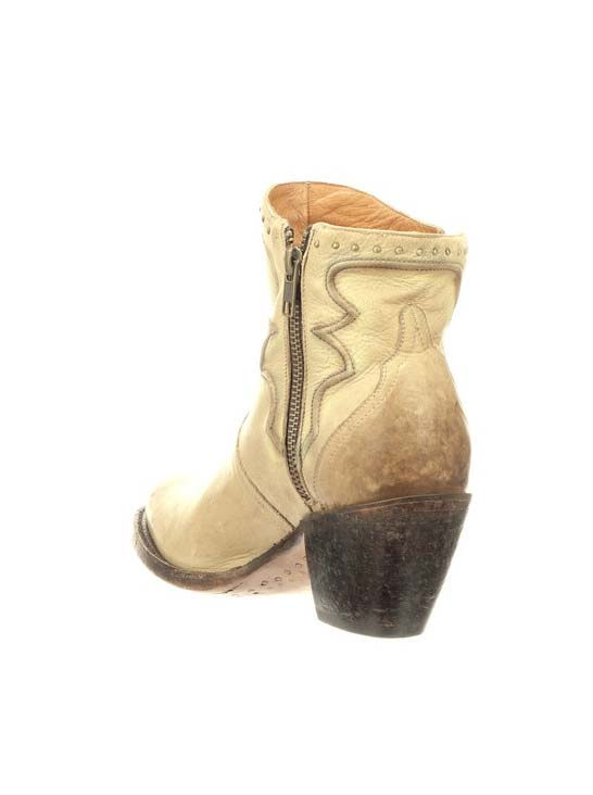 Lucchese Womens Karla Bone Distressed Studded Bootie M6011 side front