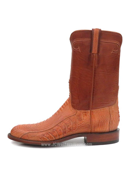 Lucchese Mens Burnished Ostrich Leg Cowboy Boots GD9320.RR
