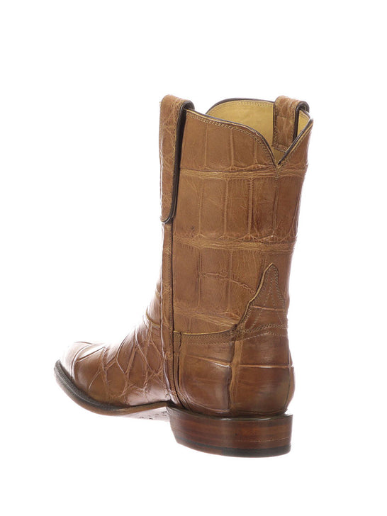 Lucchese Mens Cognac Giant Gator Z Toe Cowboy Boots GY3011.Z0 Back