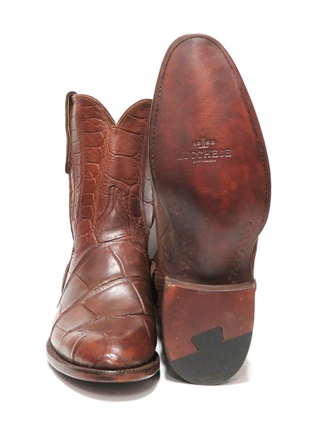 Lucchese Mens Cognac Giant Gator Z Toe Cowboy Boots GY3011.Z0 Sole