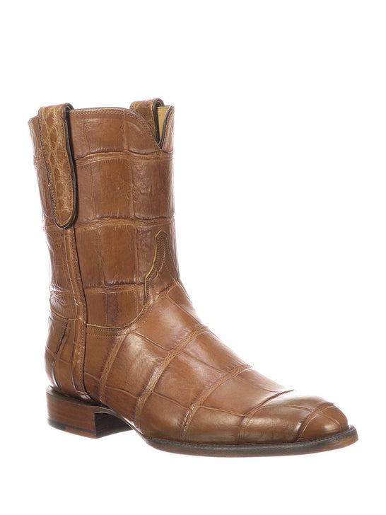 Lucchese Mens Cognac Giant Gator Z Toe Cowboy Boots GY3011.Z0 Front