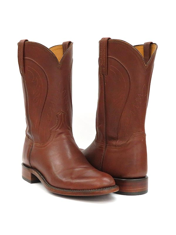 Lucchese HL3504.RR Mens Heritage Boots Ranchhand Tan Burnished