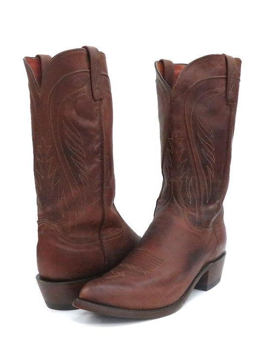 Men's Lucchese Tan Classics Ranch Hand J-Toe Leather Boots N1596.J4 pair