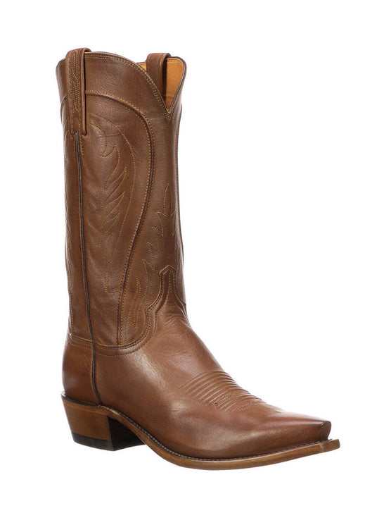 Lucchese N1596.54 Mens Classics Bart Ranch Hand Leather Boots Burnished Tan Side Front Made in USA