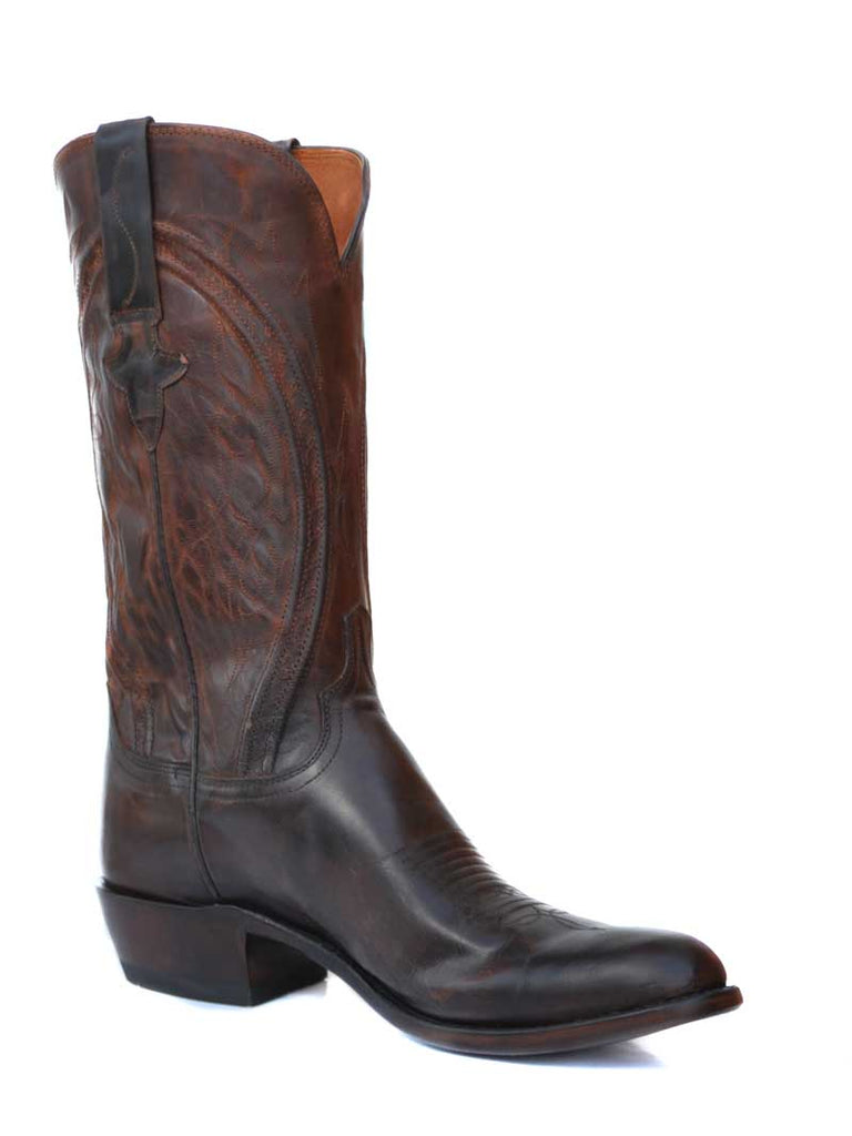Lucchese Clint Mens Peanut Brittle Mad Dog Goat Cowboy Boots N1657 Lucchese - J.C. Western® Wear