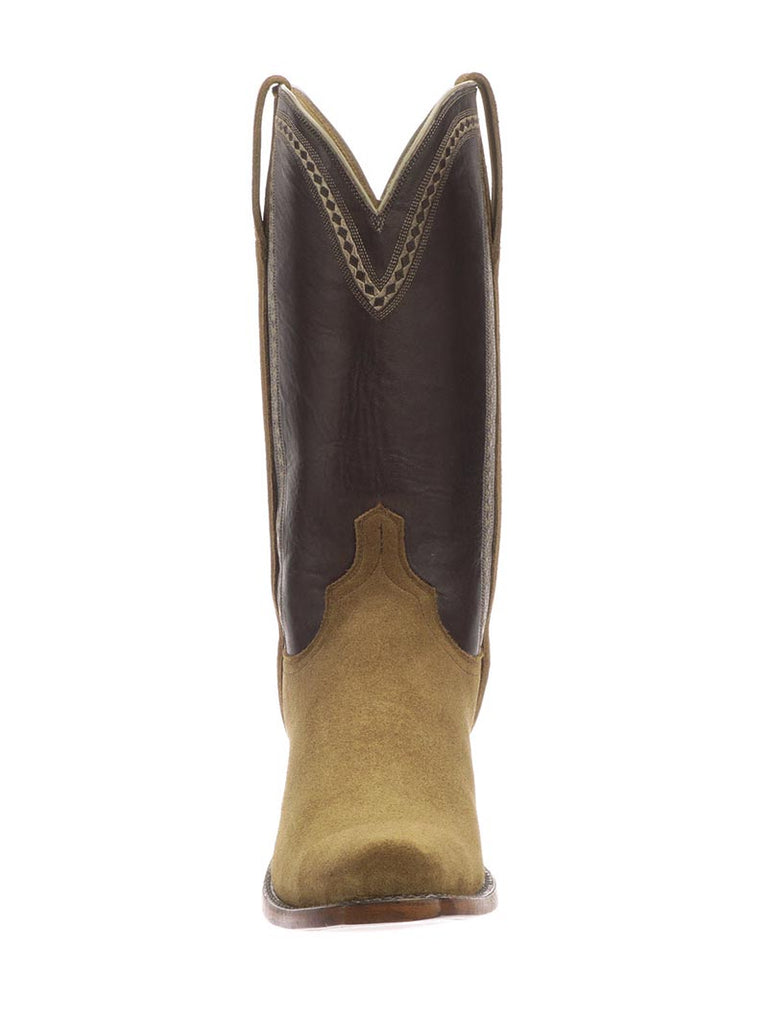 Lucchese N1679.73 Mens Sutton Suede Chocolate Cowboy Boots Espresso