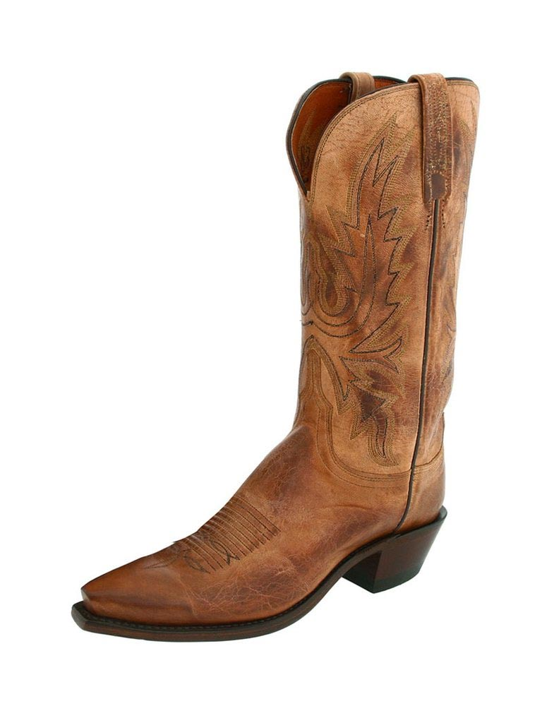 e117cd1aff5 Lucchese Women's Maddog Tan Burnished Cowgirl Boots N4540.54
