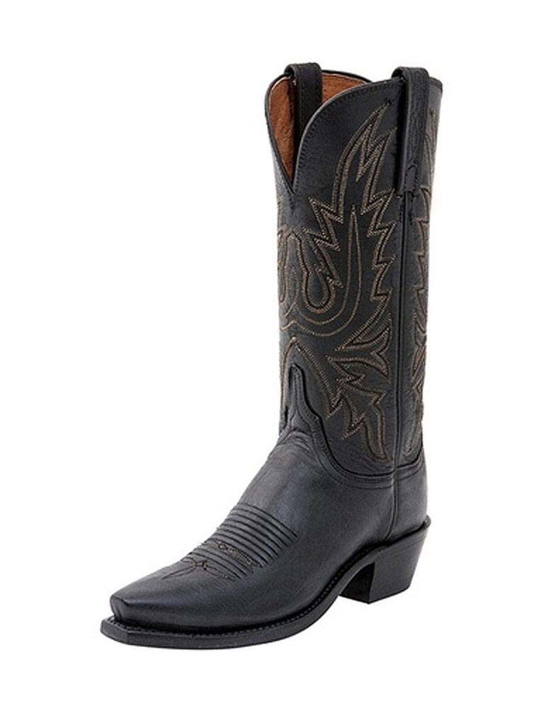 Lucchese 1883 Womens Mad Dog Black Burnished Cowgirl Boots N4559.54