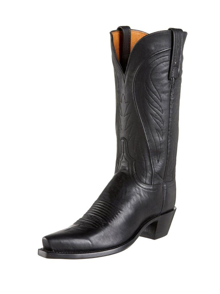 Women's Lucchese 1883 Black Burnished Cowgirl Boots N4605.54