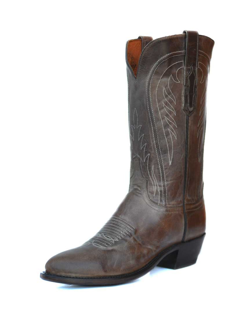 Lucchese Womens Pearl Bone Mad Dog Goat Leather Boots N4770 Side Front Lucchese - J.C. Western® Wear